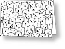 Polar Bear Vector Seamless Pattern Greeting Card