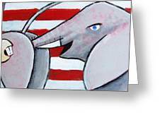 Politics Stick Greeting Card