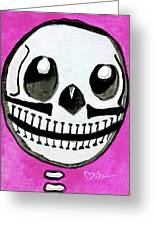 Pollito Sugarskull Of Cuteness Greeting Card
