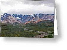 Polychrome Pass In Denali National Park Greeting Card
