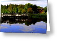Pond Refletions Greeting Card
