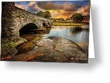 Pont Pen-y-llyn Bridge Snowdonia Greeting Card