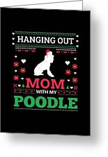 Poodle Ugly Christmas Sweater Xmas Gift Greeting Card