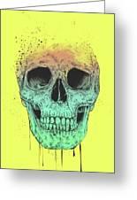 Pop Art Skull Greeting Card