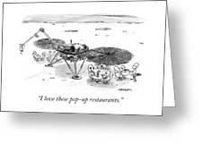 Pop Up Restaurants Greeting Card