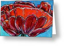 Poppy Flower Greeting Card by Jacqueline Athmann