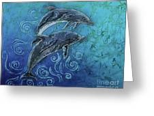 Porpoise Pair Greeting Card