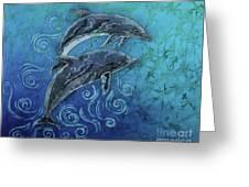 Porpoise Pair Greeting Card