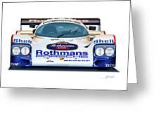 Porsche 962 Al Holbert Racing Greeting Card