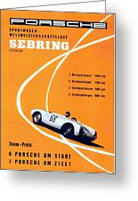 Porsche Sebring Vintage Racing Poster Greeting Card
