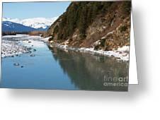 Portage Creek Portage Glacier Highway Alaska Greeting Card