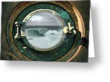 Porthole View Greeting Card by Micki Findlay