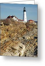 Portland Head Light - Cape Elizabeth Maine Greeting Card