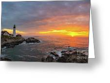 Portland Head Lighthouse Sunshine  Greeting Card