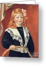 Portrait De Jean Renoir Greeting Card