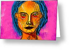Portrait Of A Woman 1139 Greeting Card