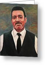 Portrait Of Artist Carl Butler Greeting Card