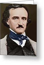 Portrait Of Edgar Allan Poe, Circa 1849 Greeting Card