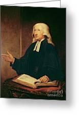 Portrait Of John Wesley Greeting Card
