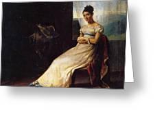 Portrait Of Laura Bro 1820 Greeting Card