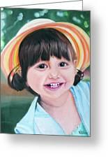 Portrait Of Little Girl. Greeting Card