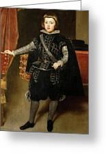 Portrait Of Philip Iv  Greeting Card