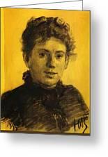 Portrait Of Tatyana Tolstaya Leo Tolstoy Daughter Greeting Card