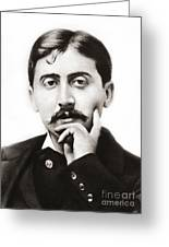 Portrait Of The French Author Marcel Proust Greeting Card