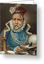 Portrait Of Tycho Brahe Greeting Card