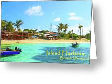 Post Card From Island Harbour Anguilla Greeting Card by Ola Allen