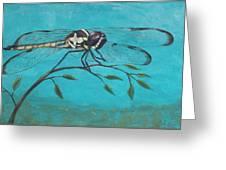 Praying Dragonfly Greeting Card