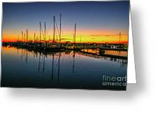 Pre-dawn Marina Colors Greeting Card by Tom Claud