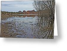 Prescott Arizona Watson Lake Sky Clouds Hills Rocks Trees Grasses Water 3142019 4920 Greeting Card