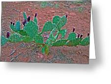 Prickly Pear Cactus In Court Of The Patriarchs In Zion National Park, Utah Greeting Card by Ruth Hager