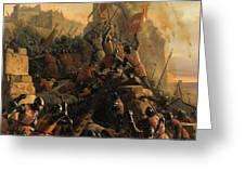 Prise De L'ile De Rhodes Par Les Chevaliers De L'ordre Des Hospitaliers De Saint-jean De Jerusalem Greeting Card
