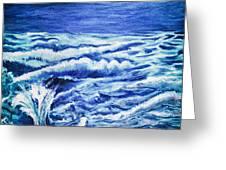 Promethea Ocean Triptych 3 Greeting Card