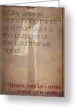 Proverbs 19 21 Greeting Card