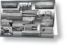 Provincetown Cape Cod Massachusetts Collage Bw 02 Greeting Card