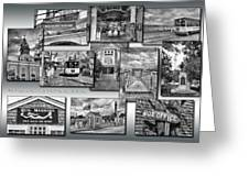 Provincetown Cape Cod Massachusetts Collage Pa Bw Greeting Card