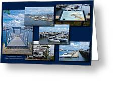 Provincetown Marina Cape Cod Massachusetts Collage Greeting Card