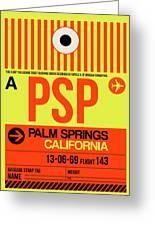 Psp Palm Springs Luggage Tag I Greeting Card