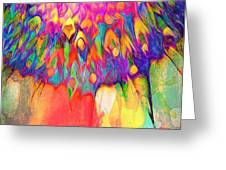 Psychedelic Daisy Greeting Card by Cindy Greenstein