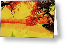 Psychedelic Lake Greeting Card