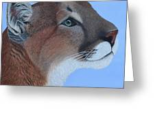 Puma Greeting Card by Tracey Goodwin