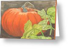 Pumpkin In Patch Greeting Card