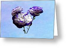 Purple And White Lisianthus Greeting Card