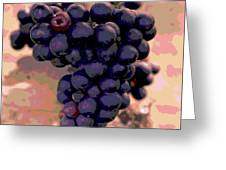 Purple Grape Bunches 18 Greeting Card