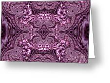 Purple Lilac Gardens And Reflecting Pools Fractal Abstract Greeting Card by Rose Santuci-Sofranko