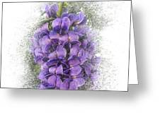 Purple Texas Mountain Laurel Flower Cluster Greeting Card by Patti Deters
