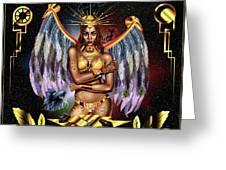 Queen Rihanna Painting Illustration Greeting Card